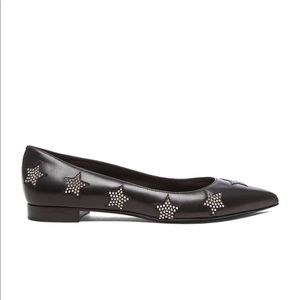 • YSL • Star Studded Paris Ballerina Flats Black